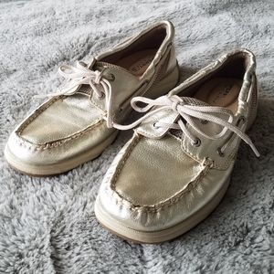 Sperry Top-Sider Intrepid Gold Metallic Boat Shoes